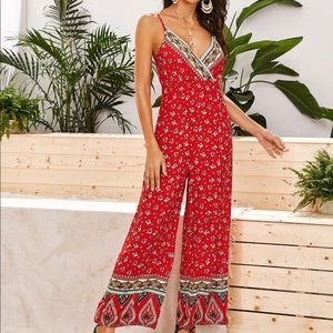Shein jumpsuit froral print size L